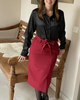 Midirok bordeaux met strik