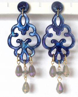Oorbellen Brazilië donkerblauw