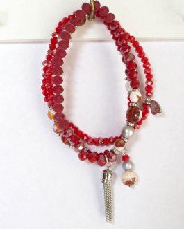 Armband Miami rood