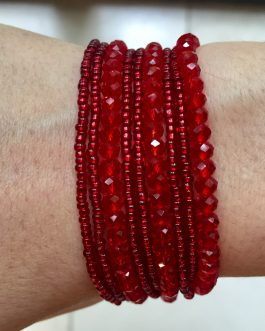 Armband Toulouse rood