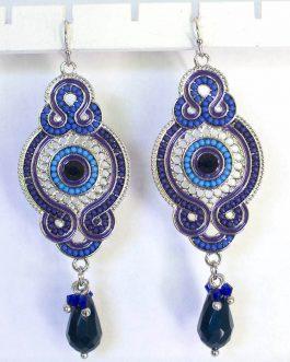 Oorbellen Jaipur hoogblauw