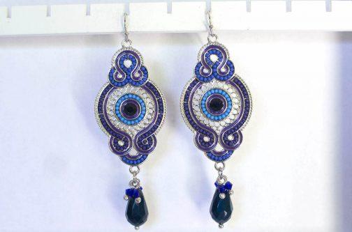 Oorbellen Jaipur blauw accessoires Florentini