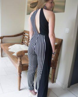 Jumpsuit zwart-wit gestreept speciaal