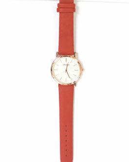 Horloge groot rosé/rood