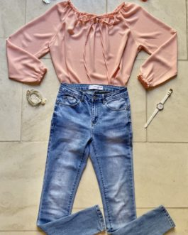 Volledige outfit jeans/lichtroze
