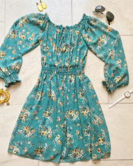 Volledige outfit turquoise/geel