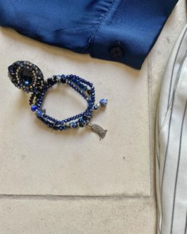 Volledige outfit wit/donkerblauw