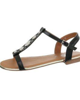 Sandalen plat Annelies zwart
