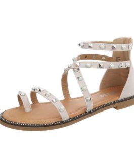 Sandalen plat Lara beige