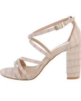 Sandalen met hak Eva beige