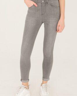 Slim fit jeans Nina Carter lichtgrijs