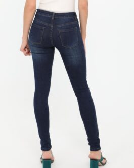 Slim fit jeans Nina Carter donkerblauw