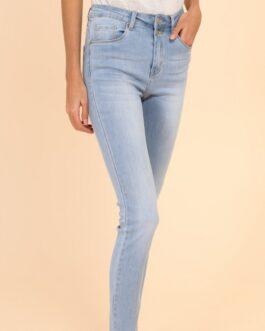 Slim fit jeans Nina Carter lichtblauw